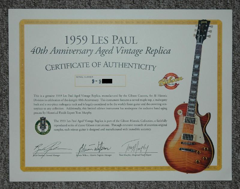 1999 40th Anniversary - Gibson Custom - Gibson Brands Forums